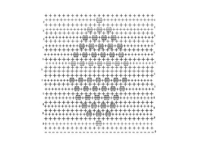 Bobble Stitch Crochet Stitch Chart