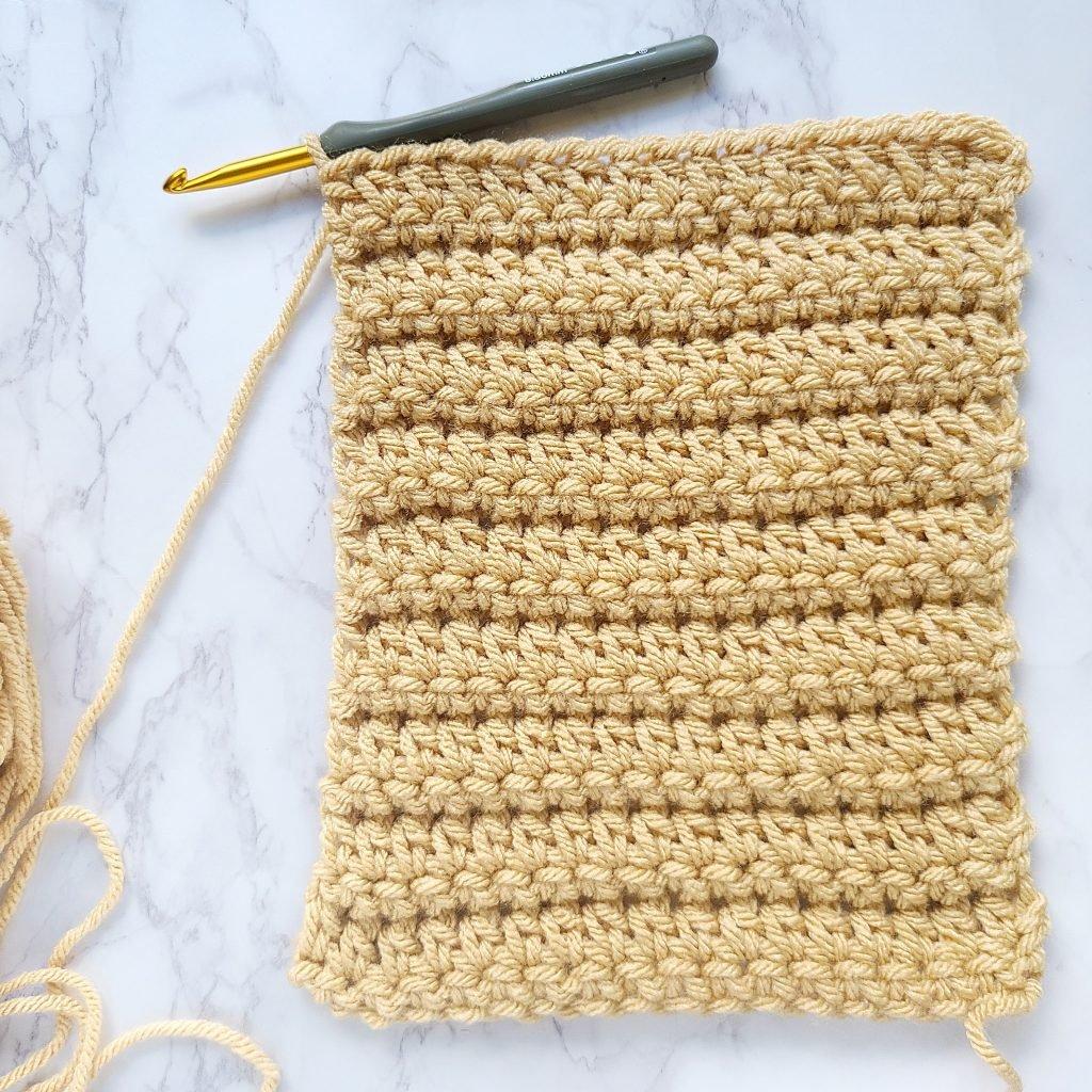 motif de rectangle au crochet