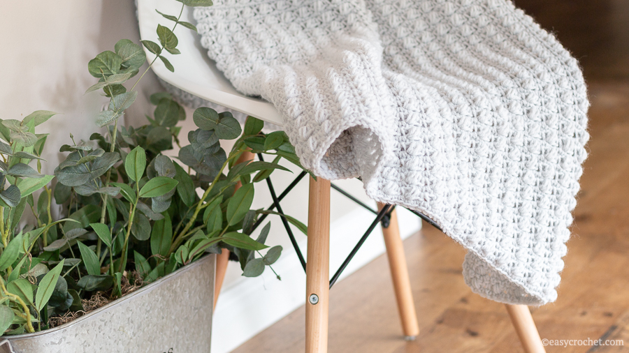 easy crochet puff stitch blanket