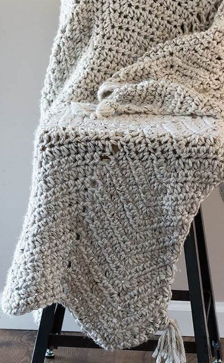chunky afghan chevron blanket pattern