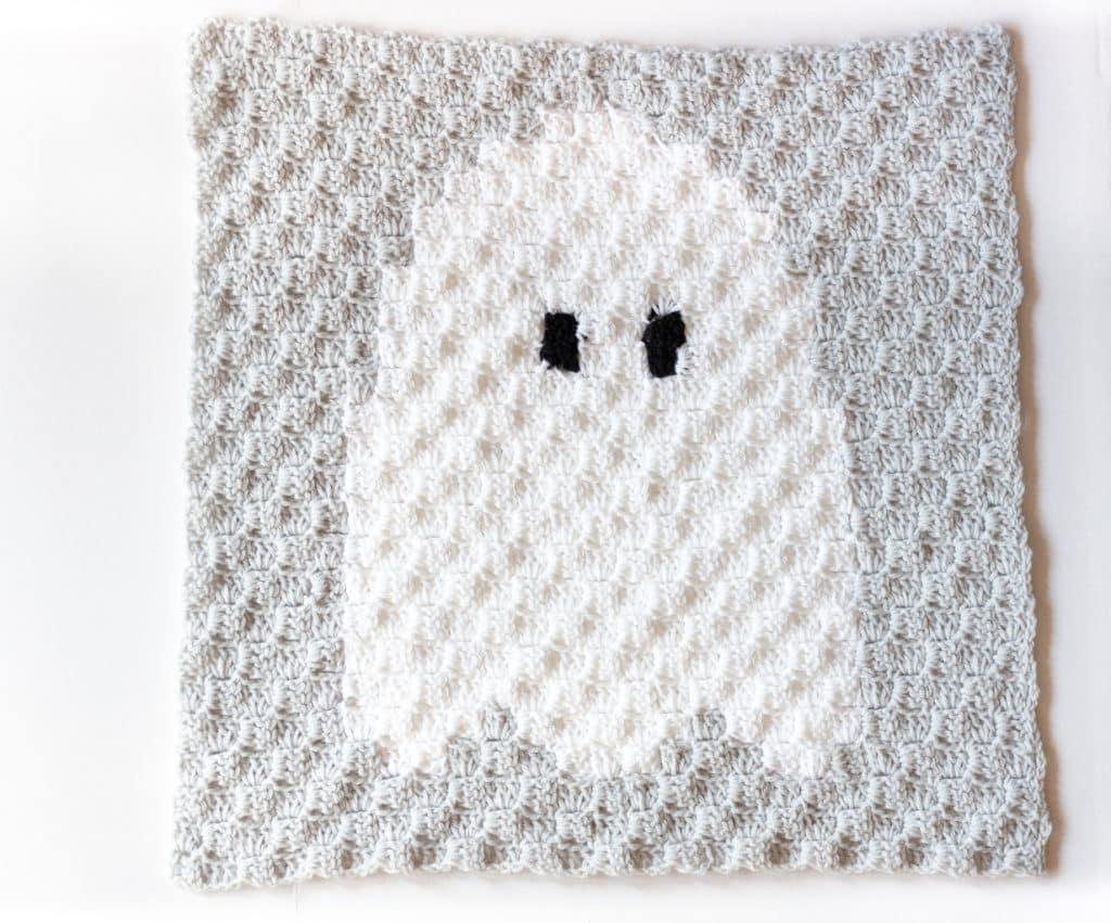 Crochet ghost c2c pattern