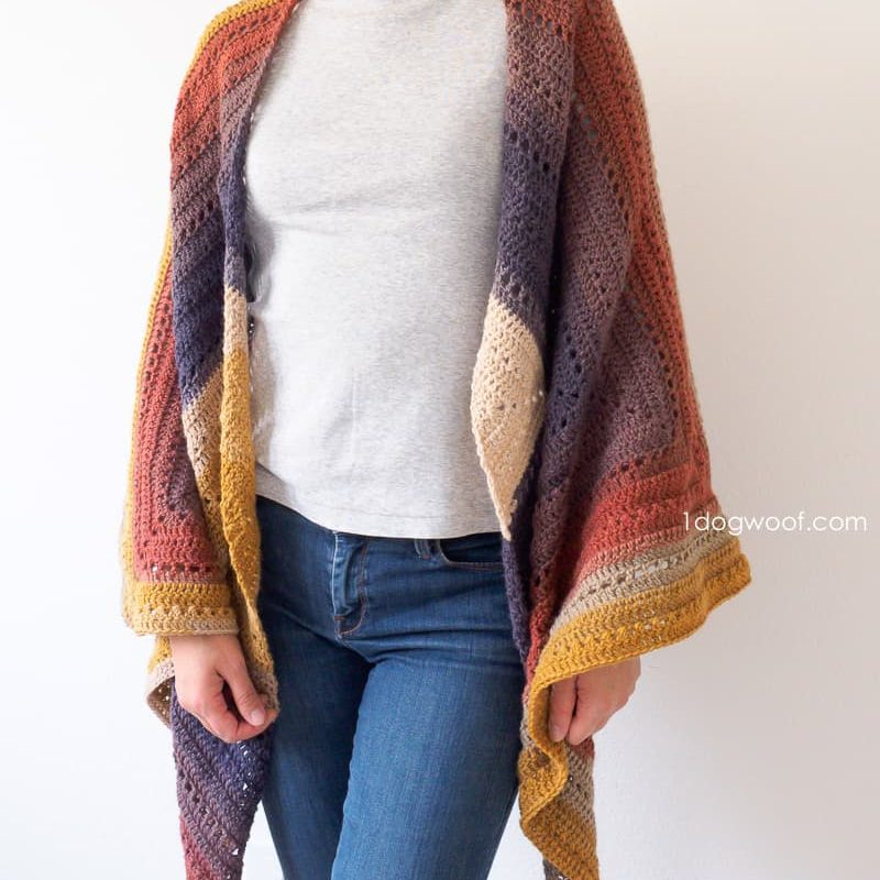 Crochet Wrap Pattern from One Dog Woof