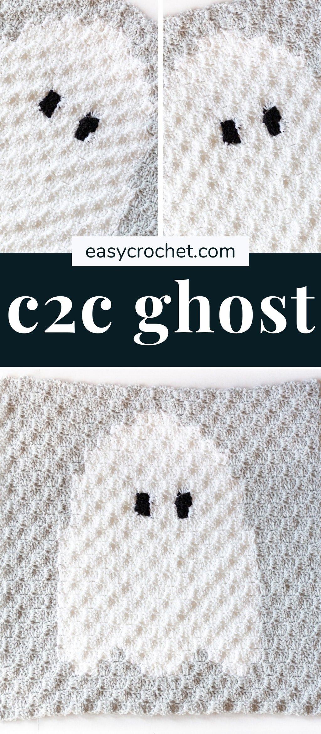 crochet halloween corner to corner (c2c) pattern