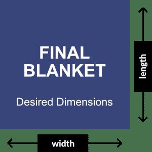 Desired Final Blanket Dimensions