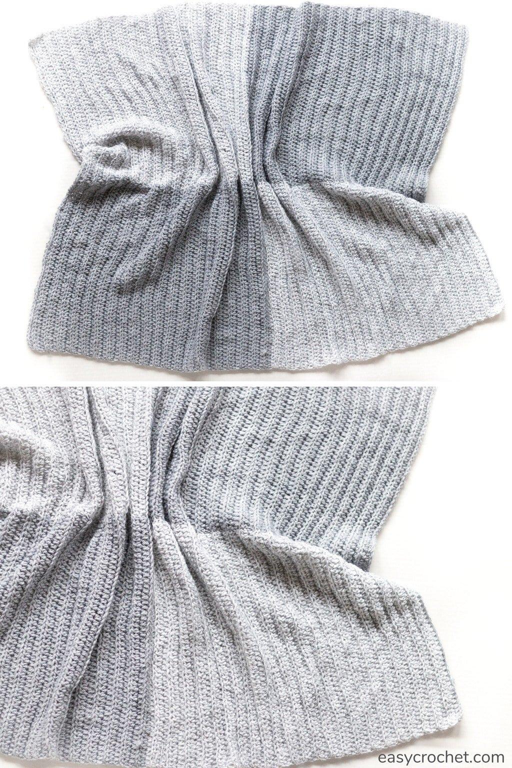 modern square blocked crochet blanket pattern