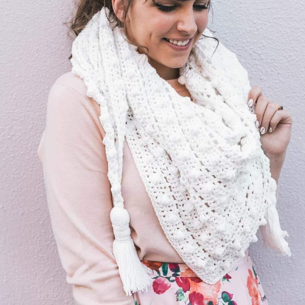 Crochet Wrap Pattern with Bobbles