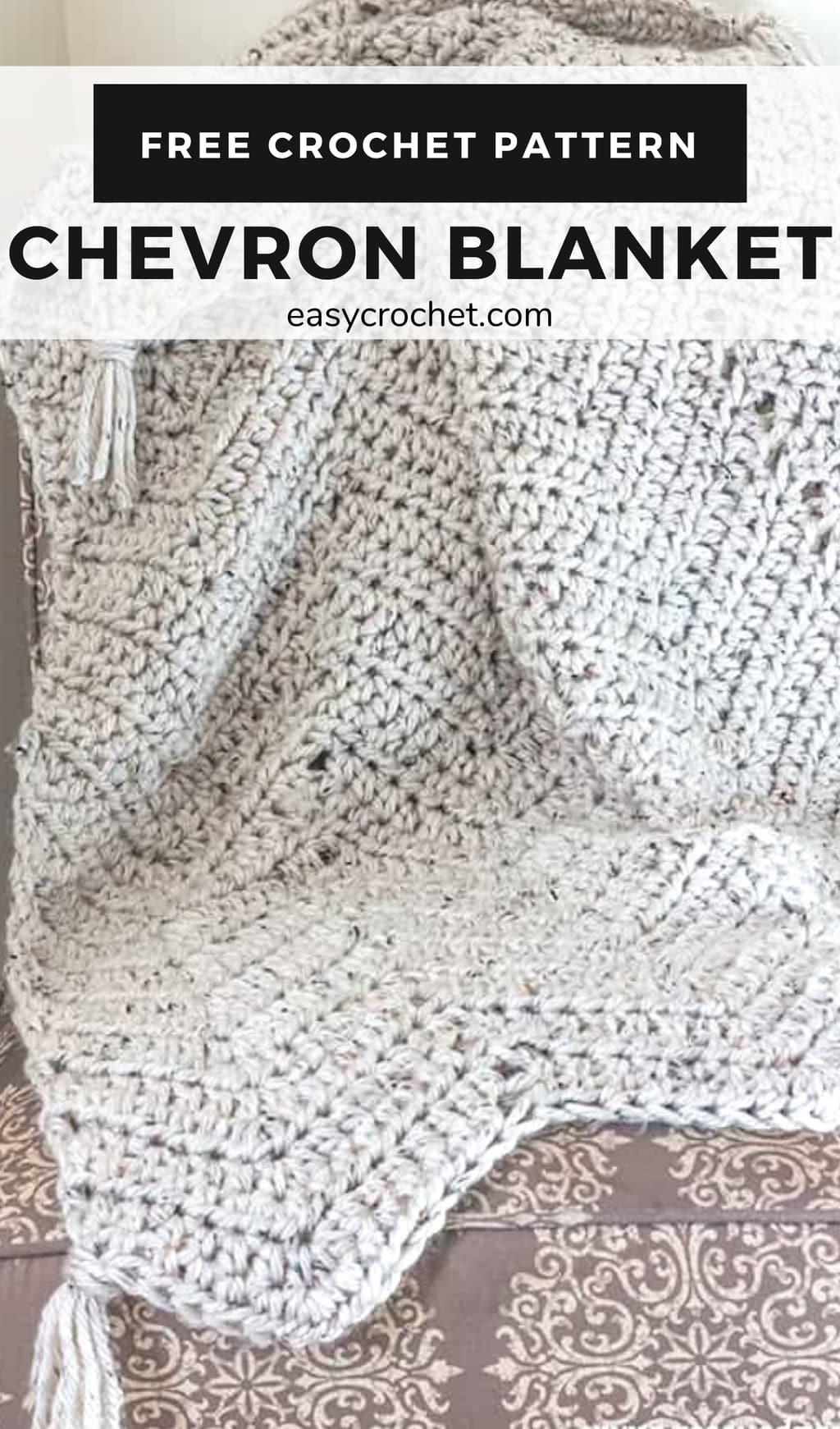 bulky chevron crochet blanket pattern