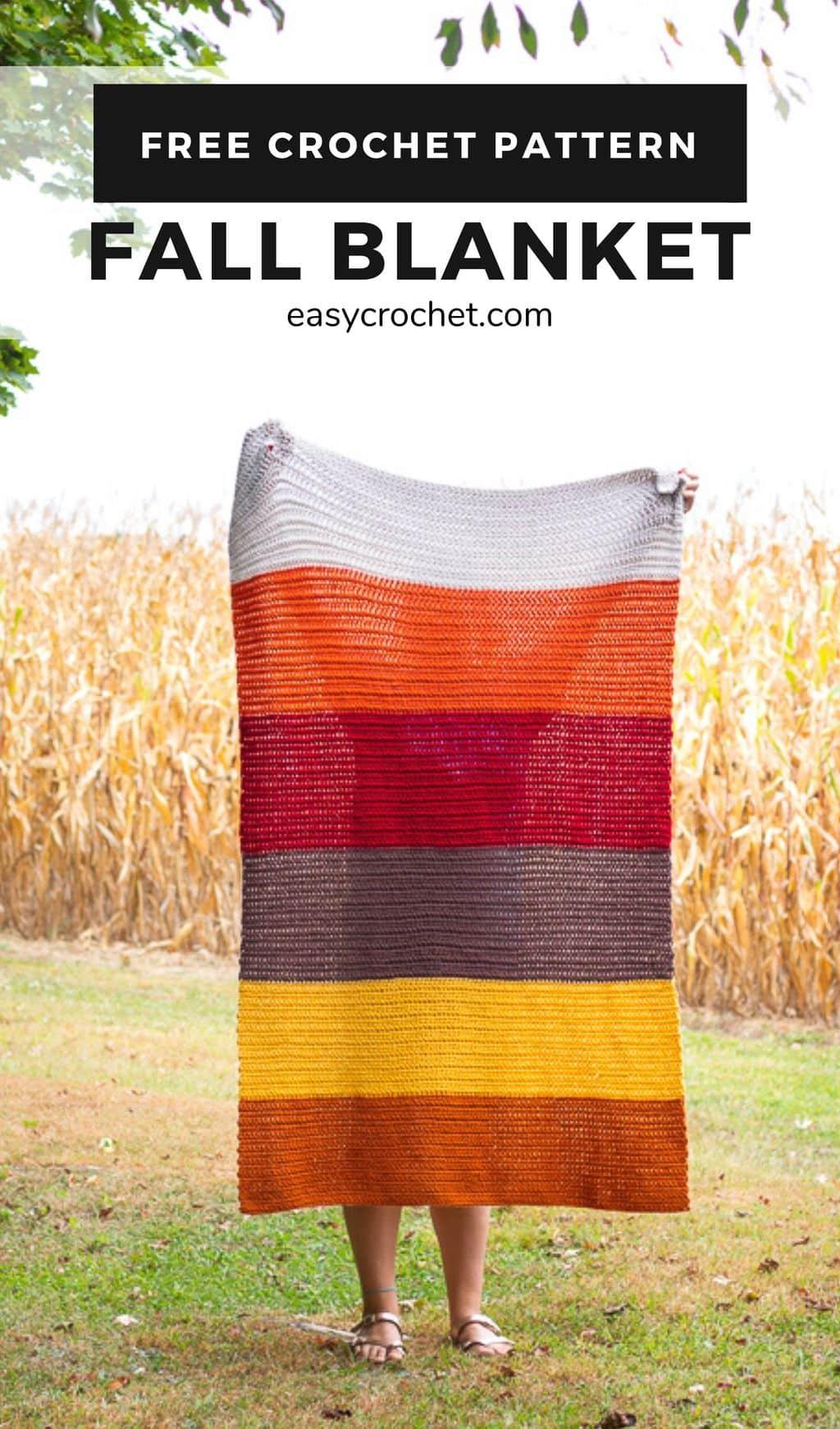 Fall Blanket Crochet Pattern